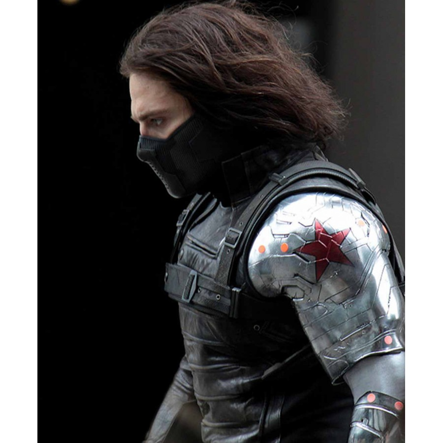 Bucky Barnes Winter Soldier Jacket with Silver Sleeve