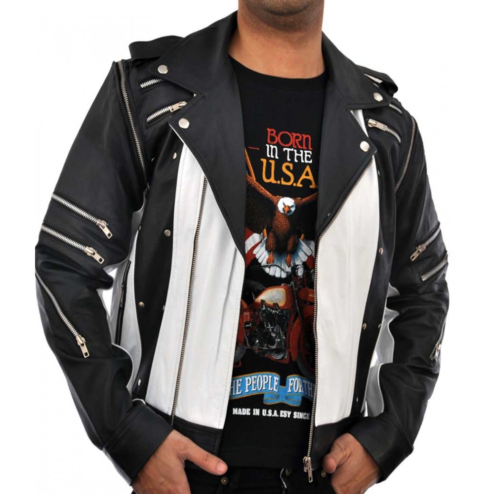 Black And White Leather Jackets In New York Los Angeles Chicago