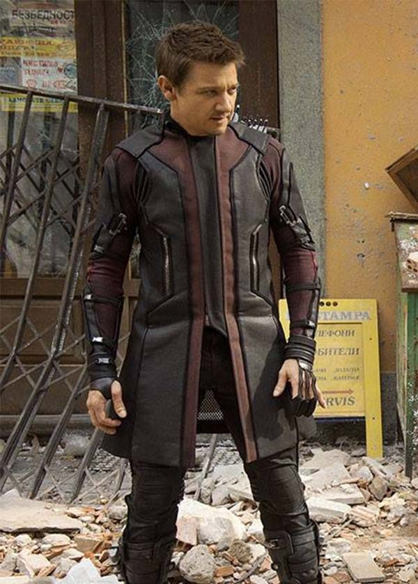 Superb Avengers Age Of Ultron Hawkeye Leather Coat1