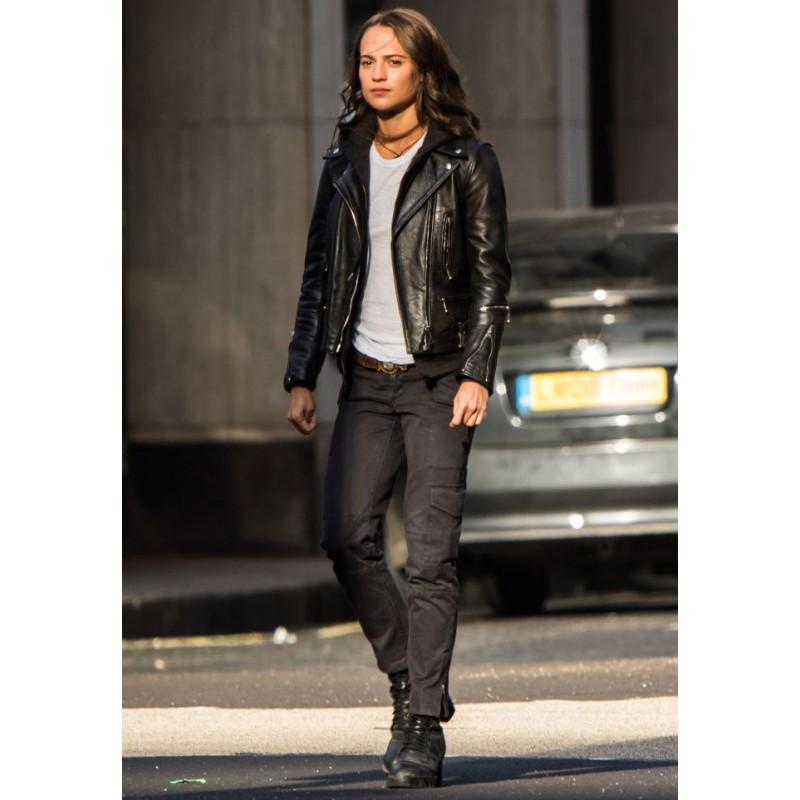 Alicia Vikander Tomb Raider: TOMB RAIDER ALICIA VIKANDER LEATHER JACKET