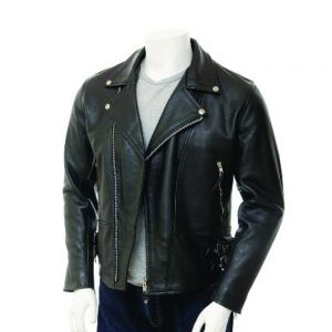 mens black leather jackets