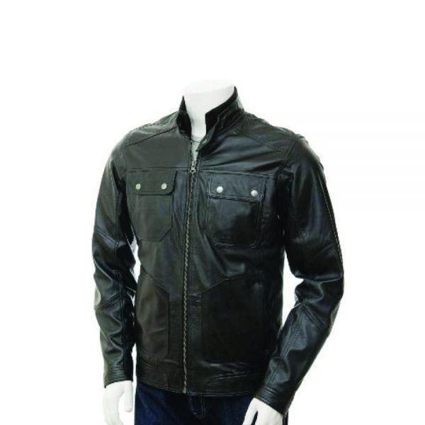 mens black leather jackets