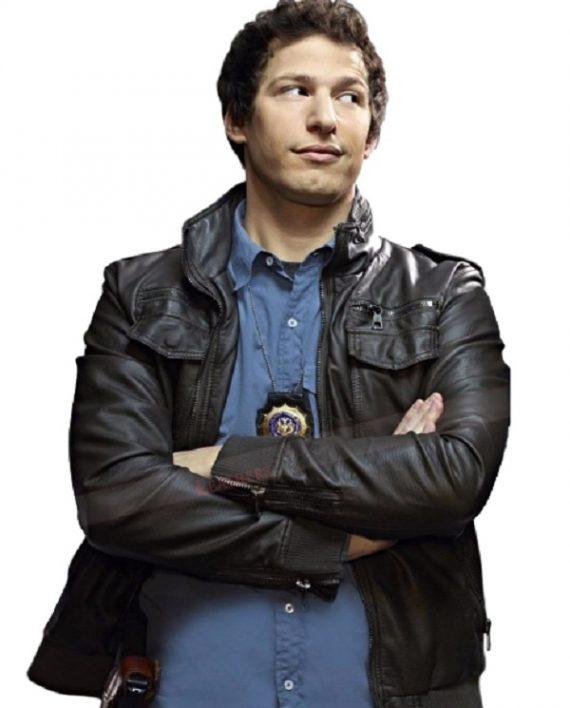 Brooklyn Nine Nine Andy Samberg Leather Police Jacket