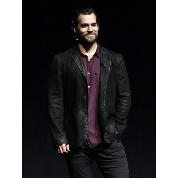 JUSTICE LEAGUE HENRY CAVILL LEATHER JACKET (2)