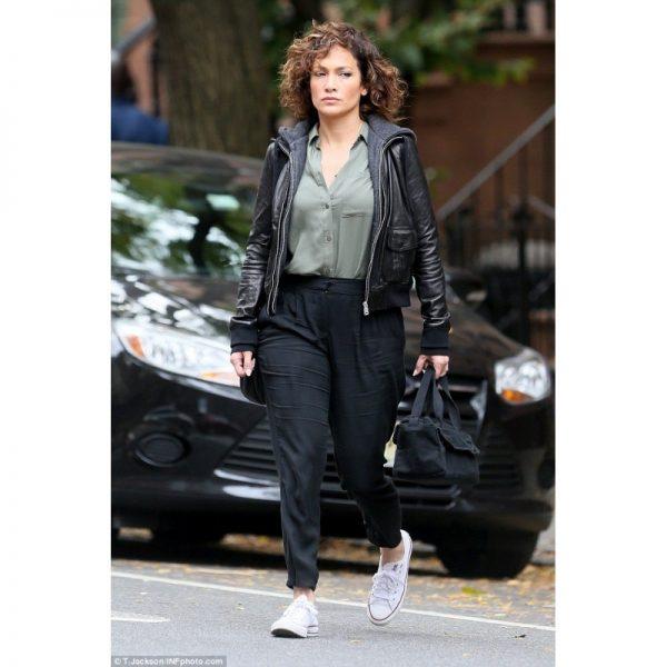 Shades Of Blue Jennifer Lopez Hooded Jacket (2)