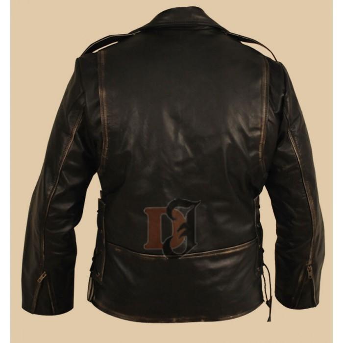 Heavy Duty (Brando) Black Distressed Motorcycle Jacket3-700×700