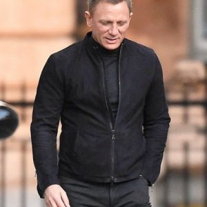 James Bond Daniel Craig Spectre Suede Leather Jacket