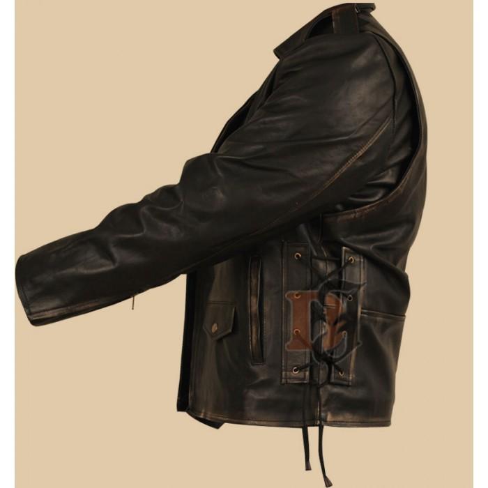 Heavy Duty (Brando) Black Distressed Motorcycle Jacket1-700×700