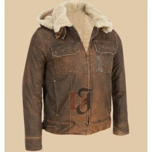 brown distressed leather jackets