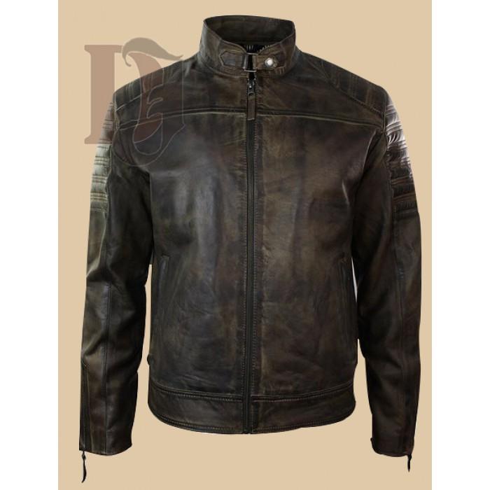 Men Vintage Distressed Biker Jacket-1-700×700