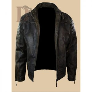 65648e518e9 Distressed Brown Vintage Leather Jacket