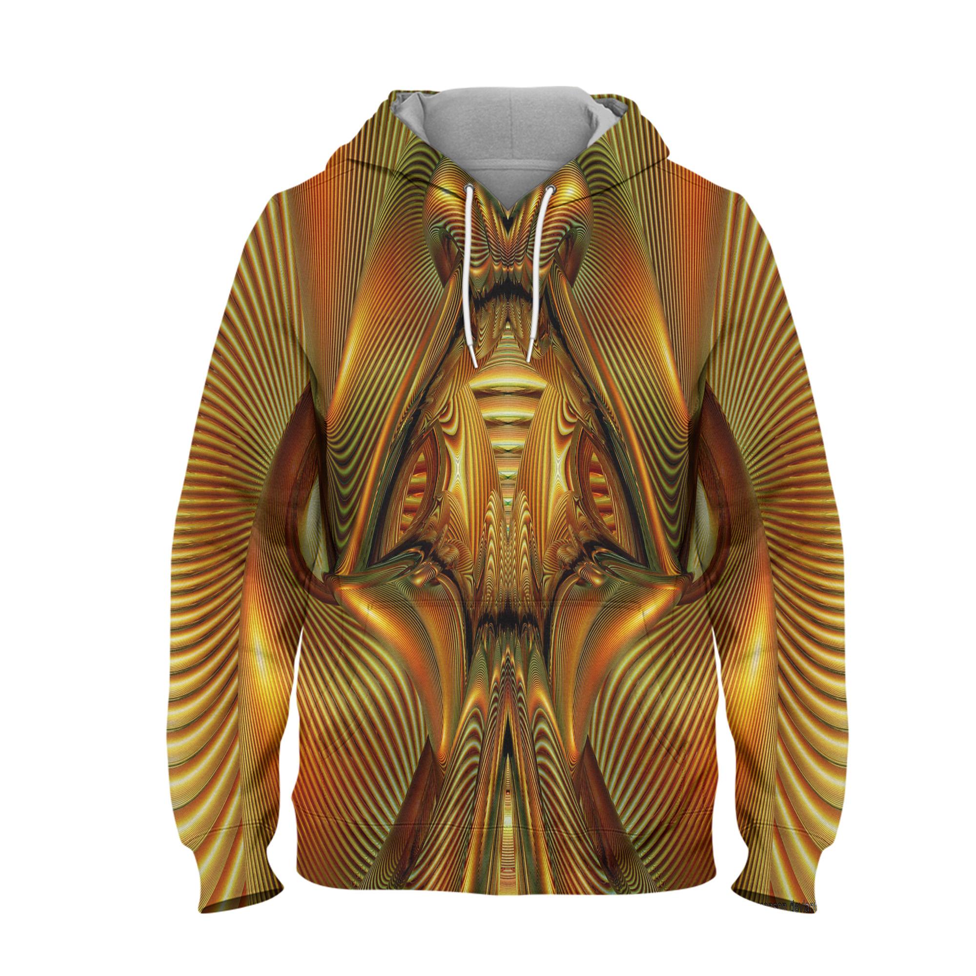 Abstract Art Design Hoodie – 3D Printed Pullover Hoodie
