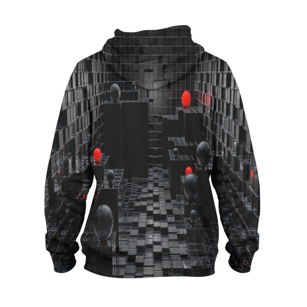 Abstract Black Balls Hoodie – 3D Printed Pullover Hoodie1