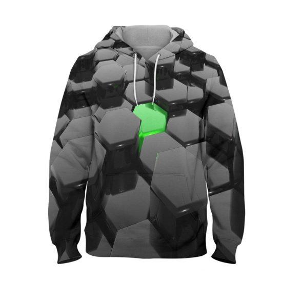 Abstract Brick Hoodie – 3D Printed Pullover Hoodie