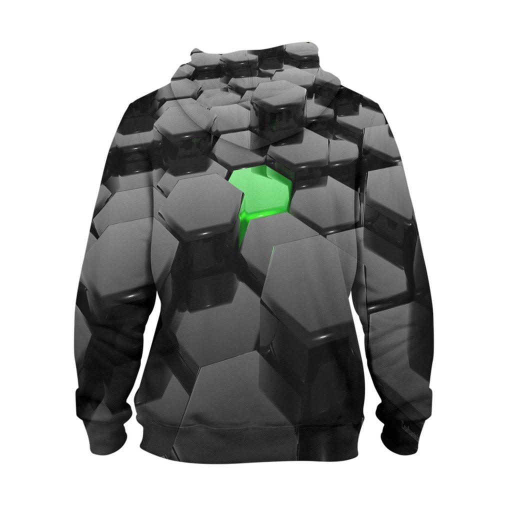 Abstract Brick Hoodie – 3D Printed Pullover Hoodie1