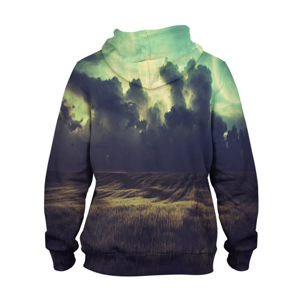 Abstract Cloudy Field Hoodie – 3D Printed Pullover Hoodie1
