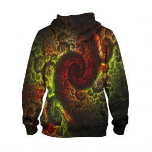 Abstract Earth Dip Hoodie – 3D Printed Pullover Hoodie