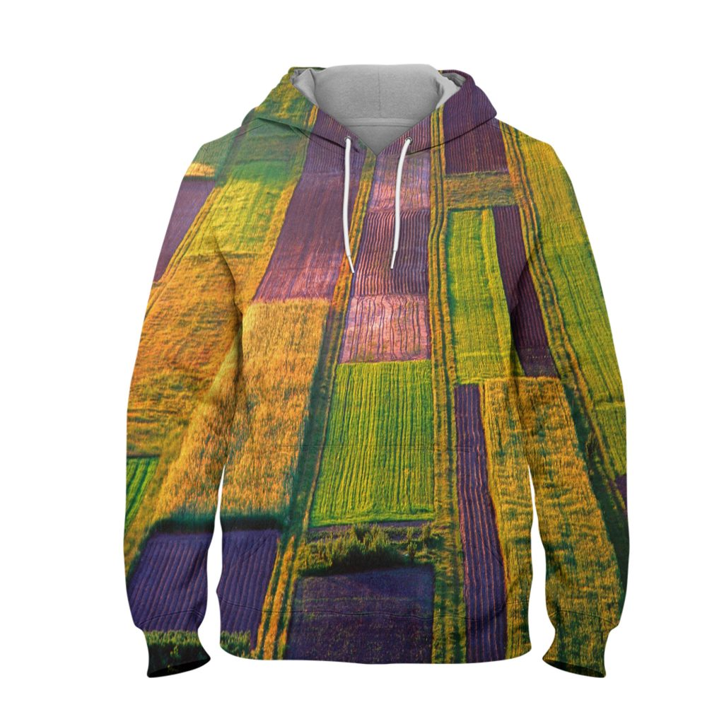 Abstract Fade Colour Hoodie – 3D Printed Pullover Hoodie