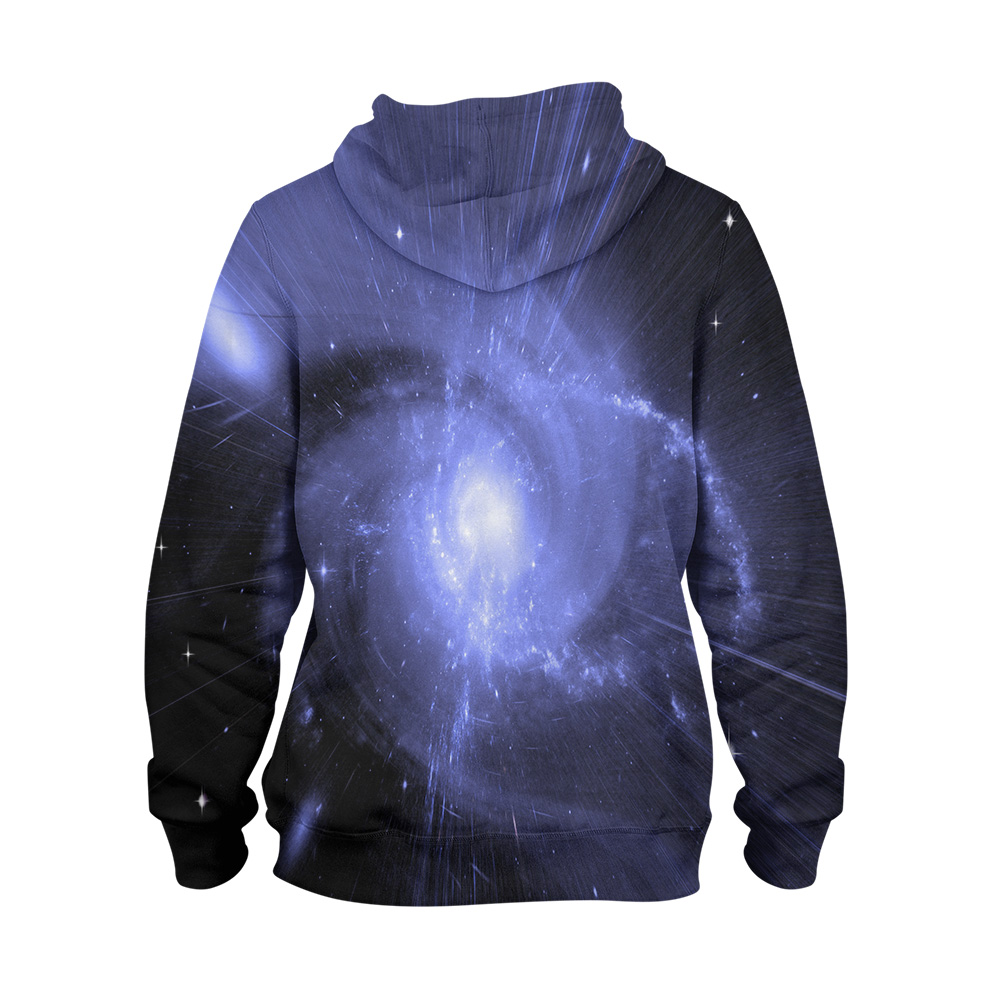 Abstract Galaxy Shining – 3D Printed Pullover Hoodie1