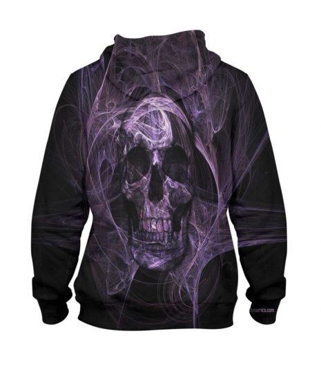Abstract Horror Head Hoodie – 3D Printed Pullover Hoodie
