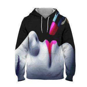 Abstract Lips Colour Hoodie – 3D Printed Pullover Hoodie