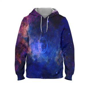 Abstract Night Sky Hoodie – 3D Printed Pullover Hoodie