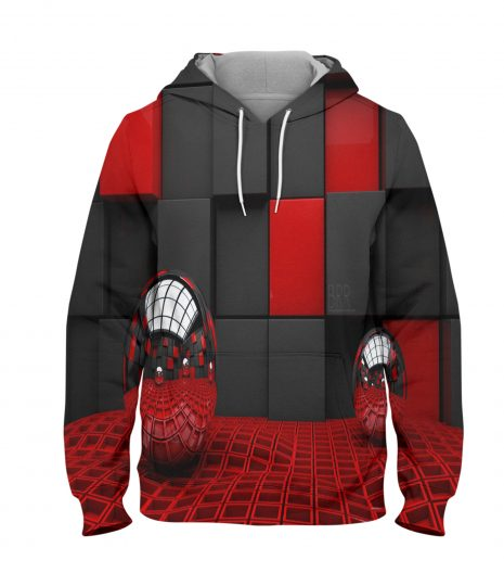 Abstract Red Ball Hoodie – 3D Printed Pullover Hoodie