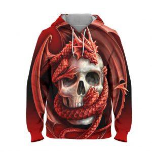 Abstract Skeleton Hoodie – 3D Printed Pullover Hoodie
