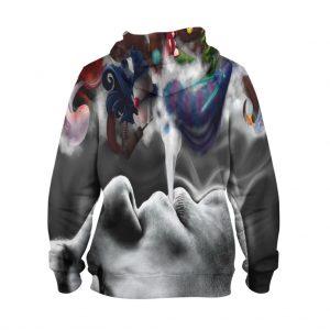 Abstract Smoke Art Hoodie – 3D Printed Pullover Hoodie