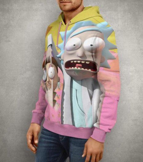 Anime 3D Rick & Morty Hoodie – 3D Printed Pullover Hoodie