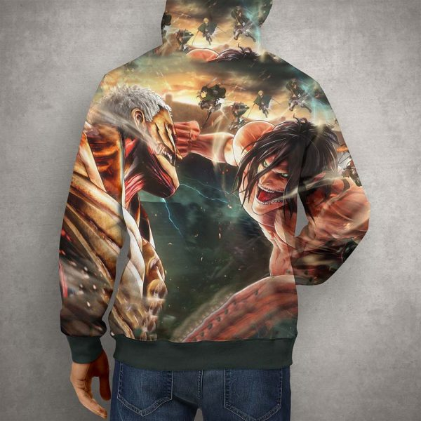 Anime Action Attack on Titan Hoodie – 3D Printed Pullover Hoodie2
