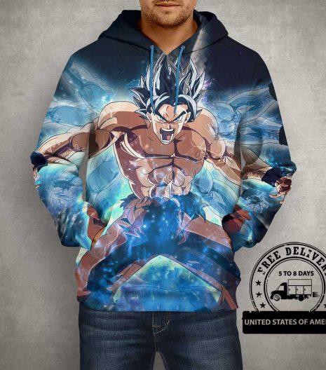 Anime Action Goku 3D Print Hoodie