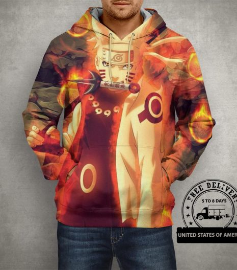 Anime Action Naruto 3D Printed Pullover Hoodie