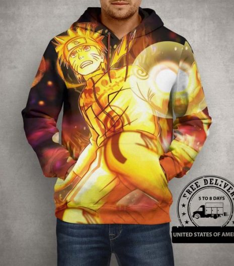 Anime Action Naruto Hoodie – 3D Printed Pullover Hoodie
