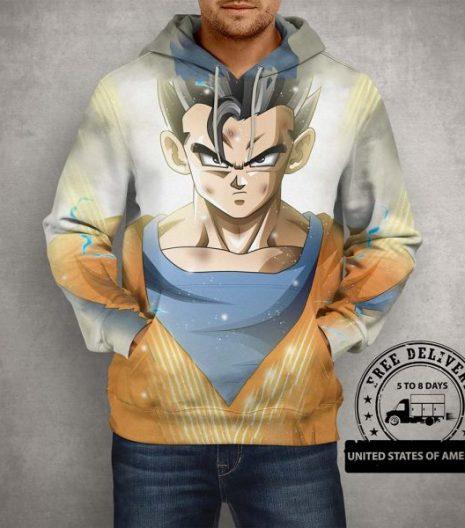 Anime Dragon Ball Z Gohan 3D Print Hoodie