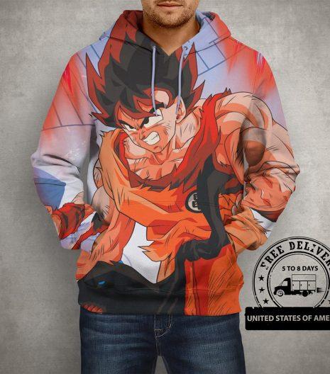 Anime Dragon Ball Z Goku Hoodie – 3D Printed Hoodie
