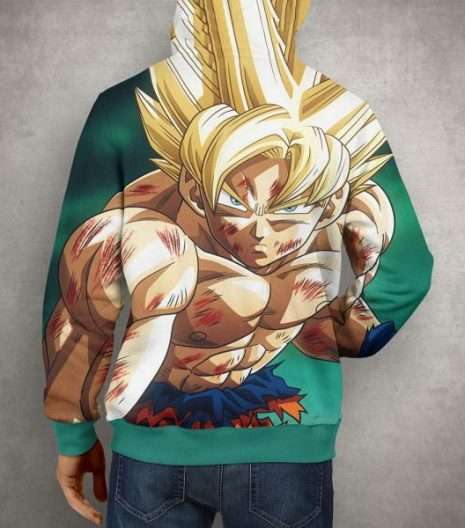 Anime Dragon Ball Z Super Goku Hoodie – 3D Printed Pullover Hoodie