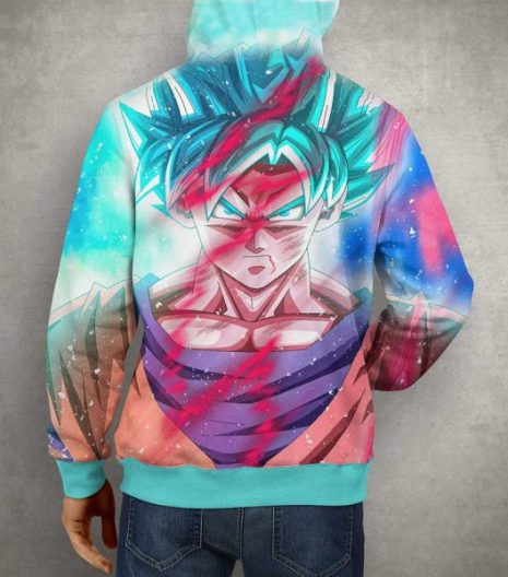 Anime Goku Multi Color 3D Print Hoodie