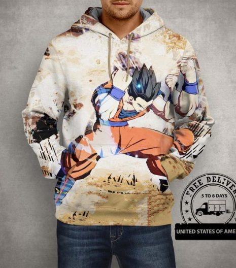 Anime Mystic Gohan 3D Print Pullover Hoodie