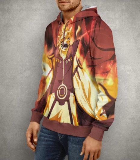 Anime Naruto Action Hoodie – 3D Printed Pullover Hoodie