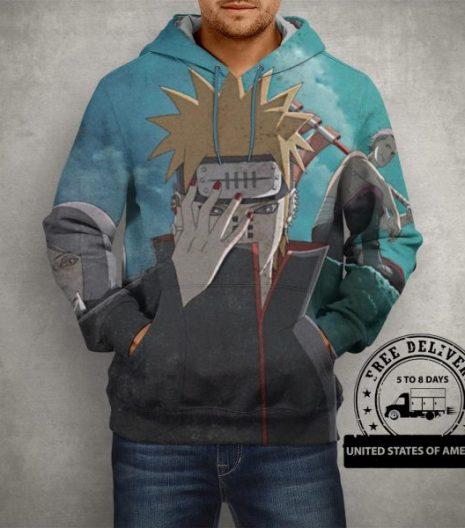 Anime Naruto Akatsuki Hoodie – 3D Printed Pullover Hoodie