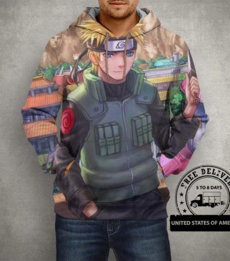 Anime Naruto Cool Hoodie – 3D Printed Pullover Hoodie