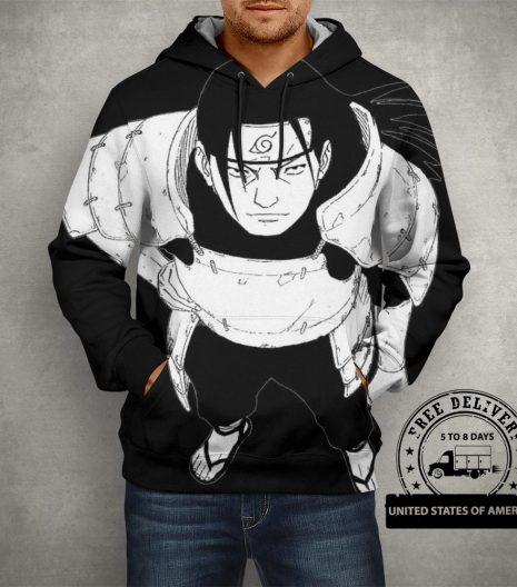 Anime Naruto Hashirama Senju Hoodie – 3D Printed Pullover Hoodie