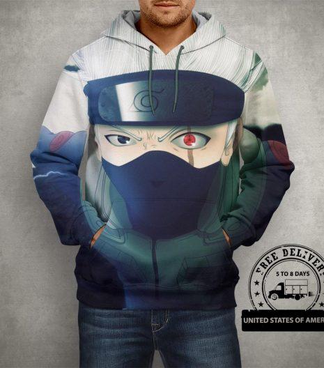 Anime Naruto Hatake Kakashi Hoodie – 3D Printed Pullover Hoodie