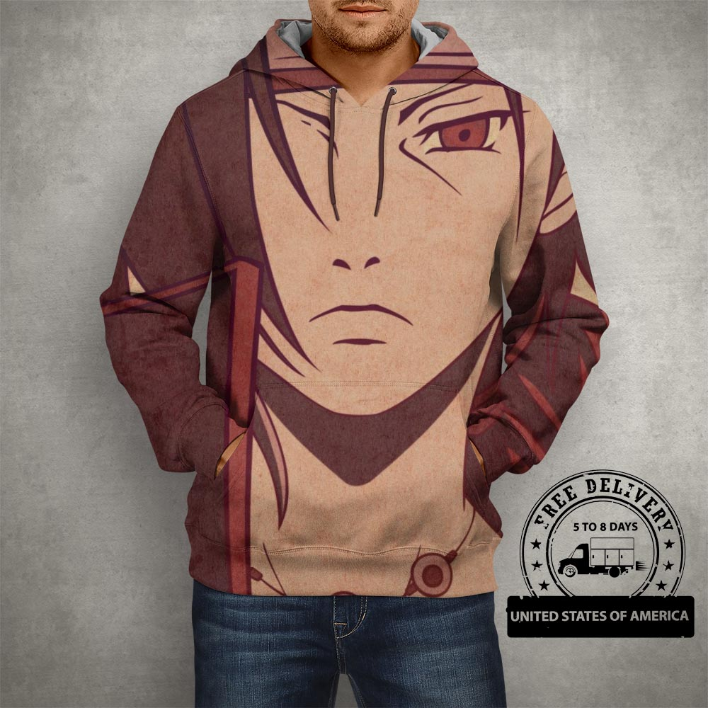 Anime Naruto Itachi Uchiha Artwork Hoodie – 3D Printed Pullover Hoodie