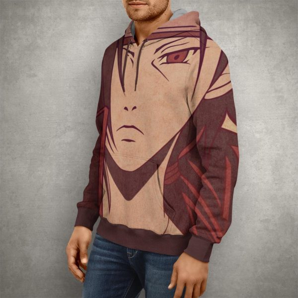 Anime Naruto Itachi Uchiha Artwork Hoodie – 3D Printed Pullover Hoodie1