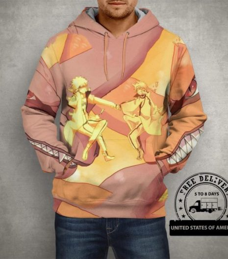 Anime Naruto & Kurama Hoodie – 3D Printed Pullover Hoodie
