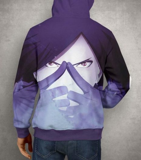 Anime Naruto Madara Uchiha Hoodie – 3D Printed Pullover Hoodie