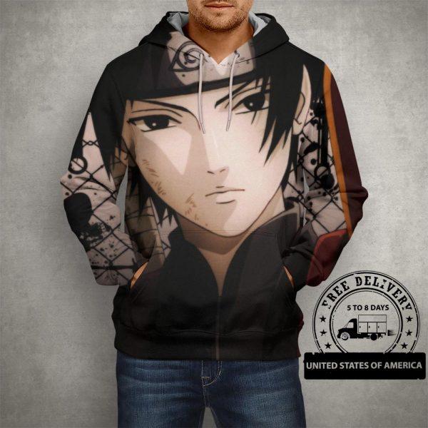 Anime Naruto Sai Headband Hoodie – 3D Printed Pullover Hoodie