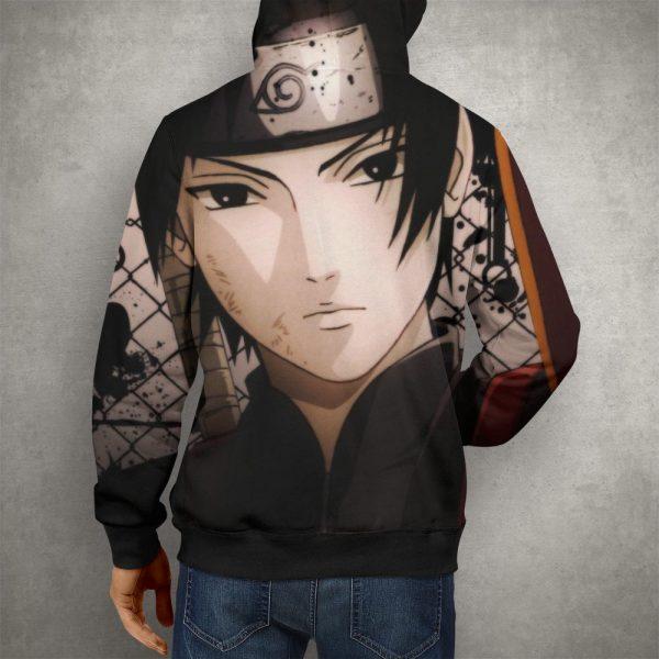 Anime Naruto Sai Headband Hoodie – 3D Printed Pullover Hoodie23